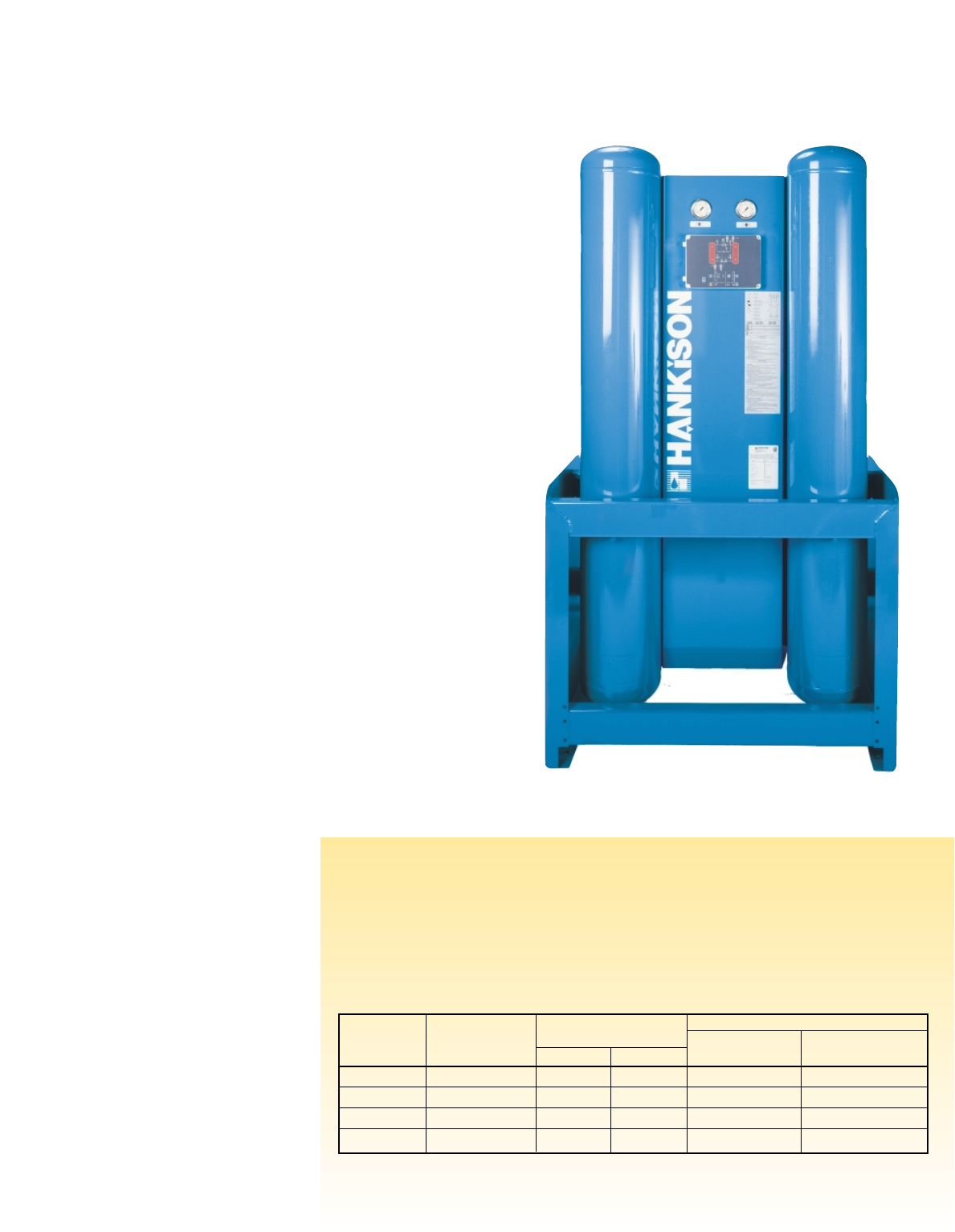 HHL SERIES and HHS SERIES HEATLESS DESICCANT COMPRESSED ...