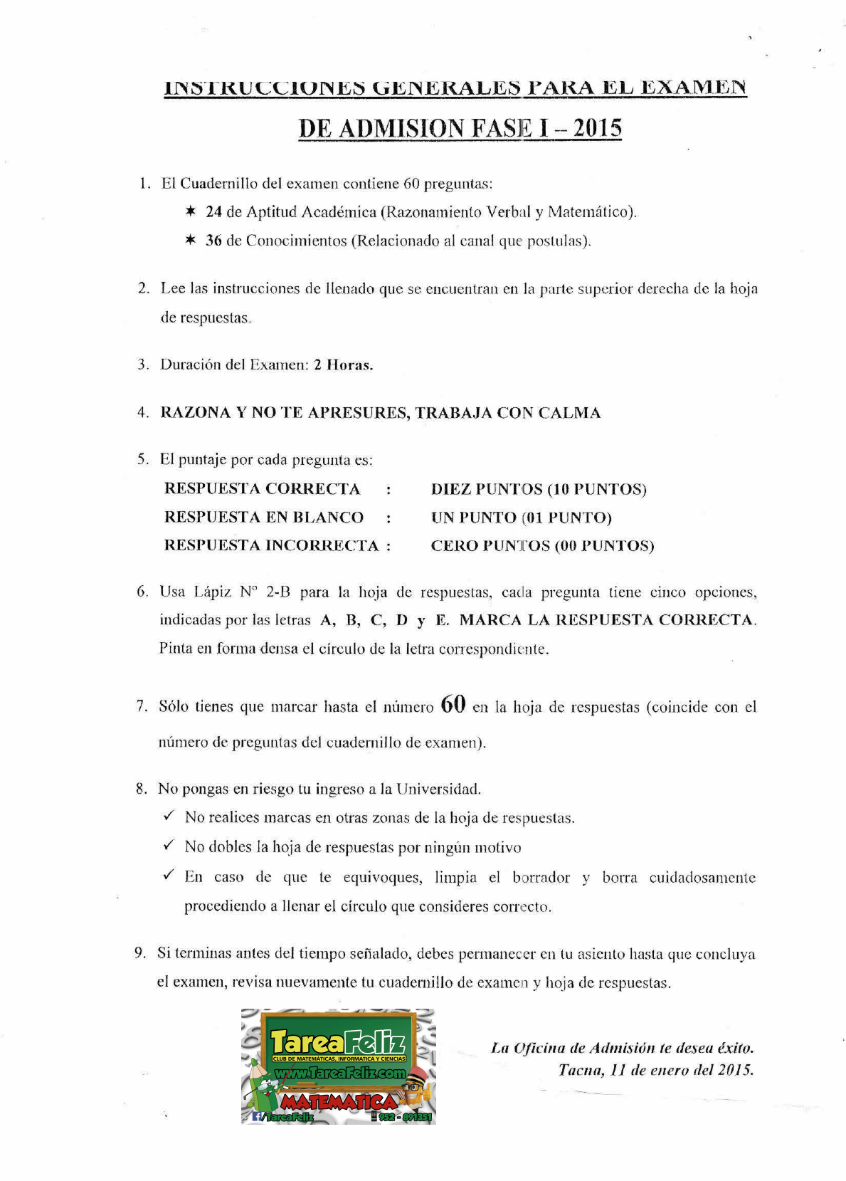 Examen Fase 1 2015 Canal 1 Pdf Document