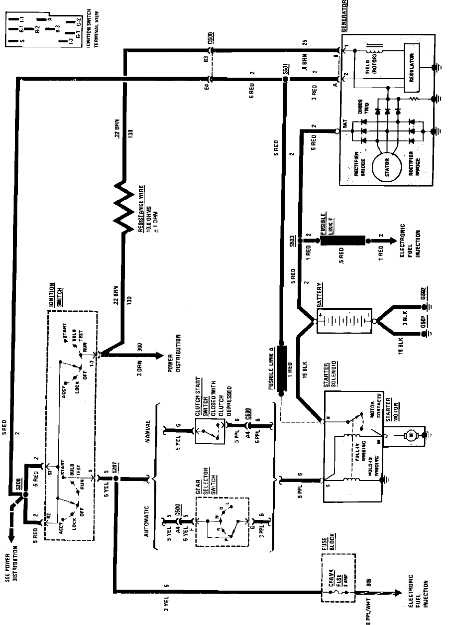1984 Fiero Electrical Diagrams - System Charging System Wiring ...