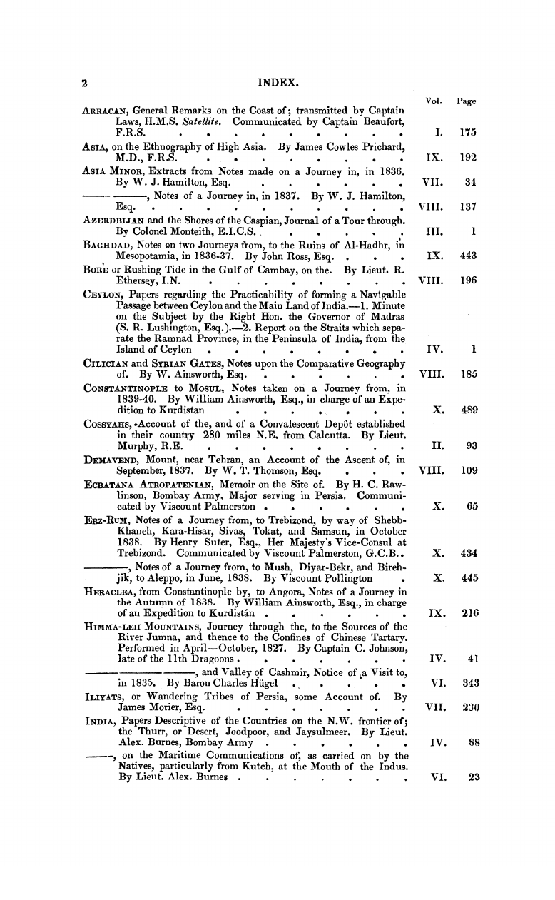 General Index to the Contents of the First Ten Volumes of