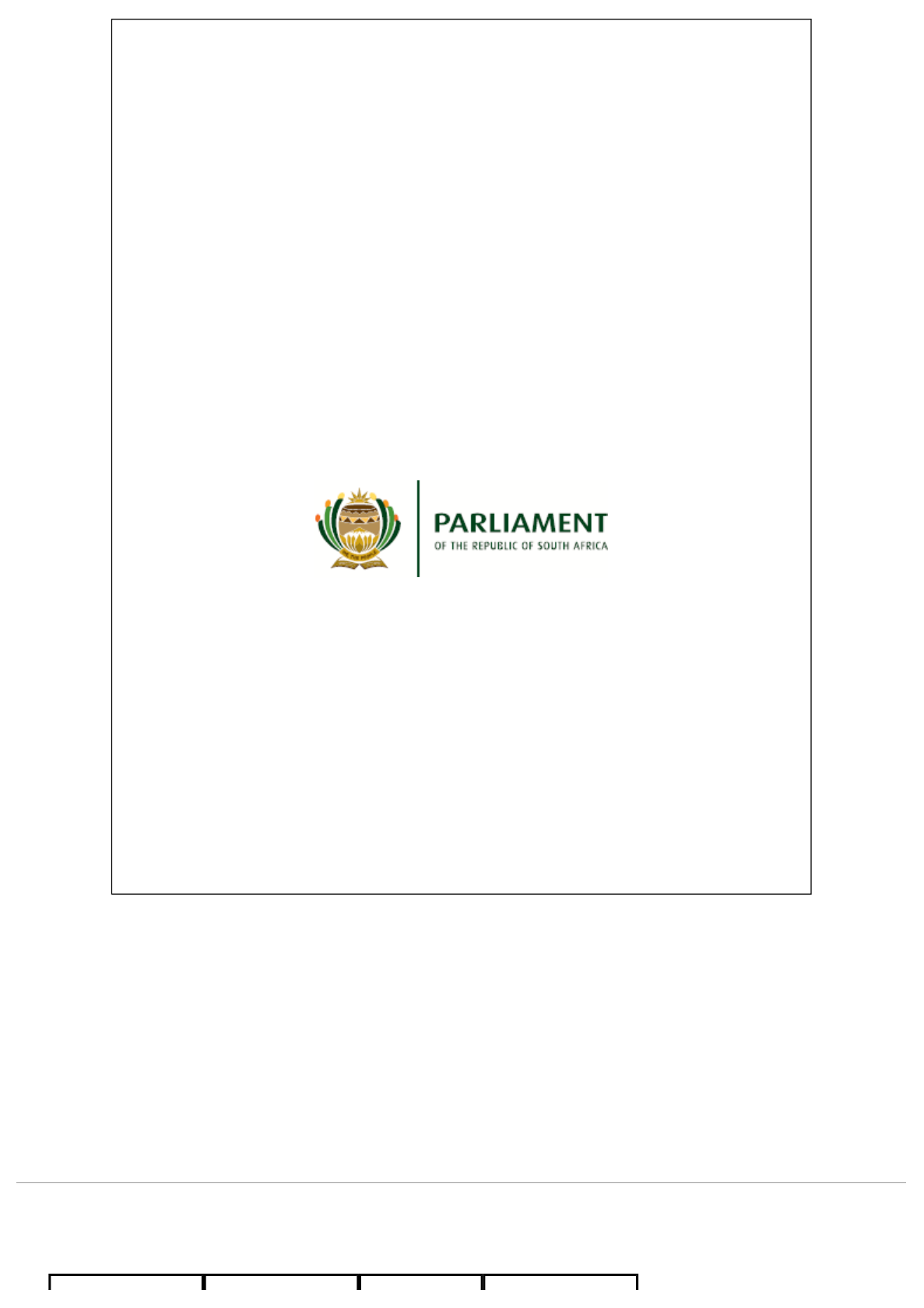 Parliament Rsa Joint Committee On Ethics And Members