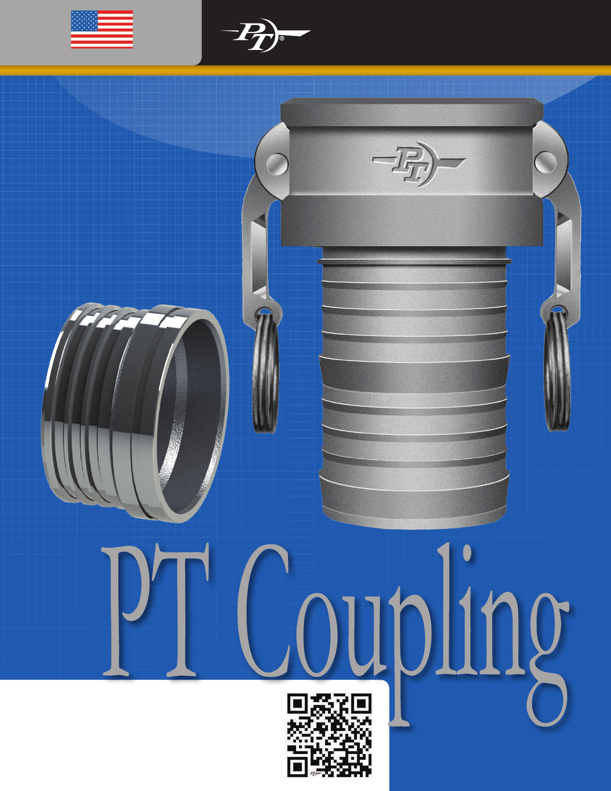 1-1//2 Hose Shank x NPT Male Combination Nipple PT Coupling PTCN Series Polypropylene Fitting