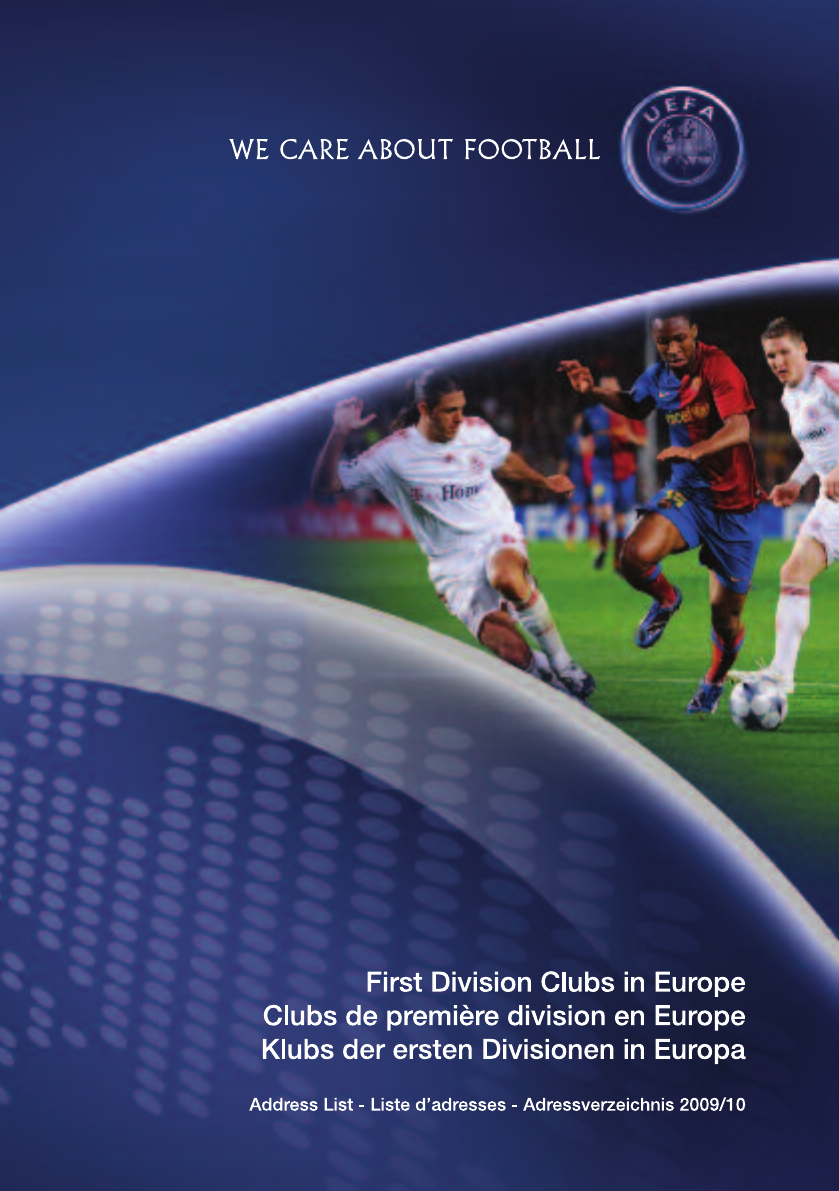 First Division Clubs In Europe 2009 10