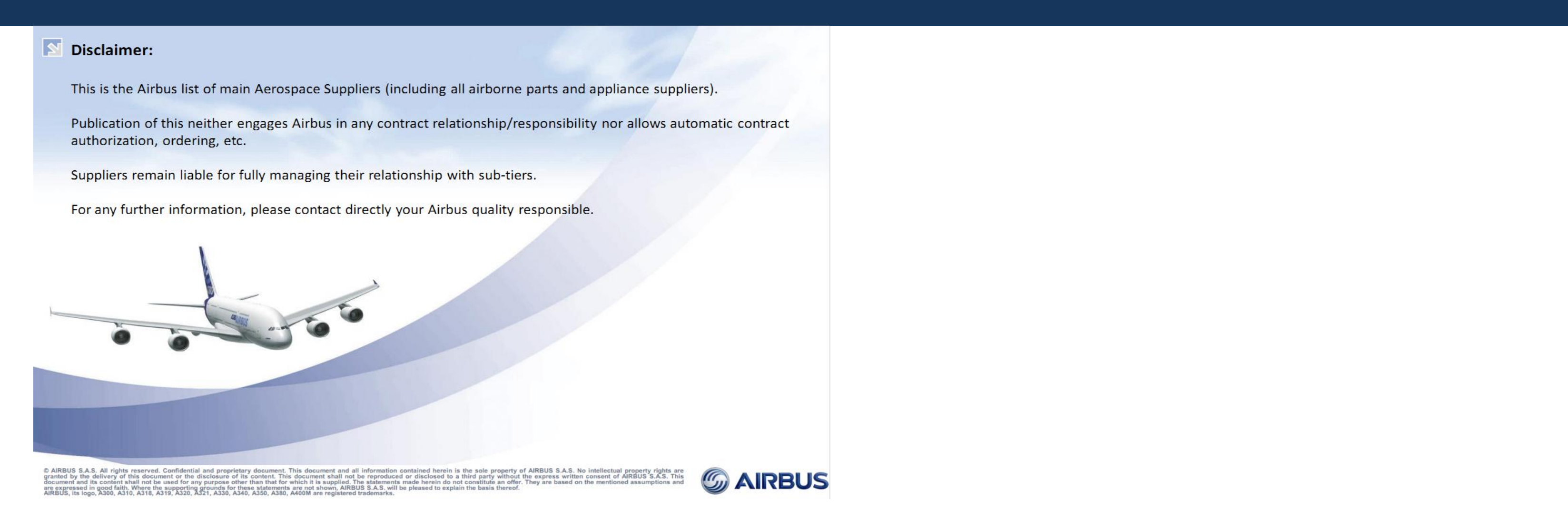 Quai Des Marques Jard Sur Mer airbus approved suppliers list june - approval list june