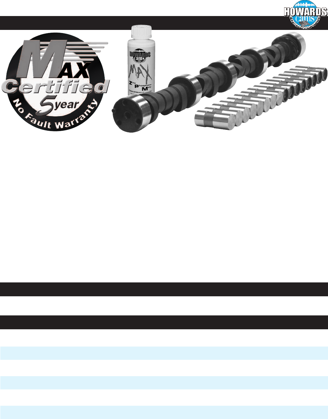 """HOWARD/'S CL112031-08 SBC Chevy 285//285 480/""""//480/"""" 108° Cam Camshaft /& Lifters"""