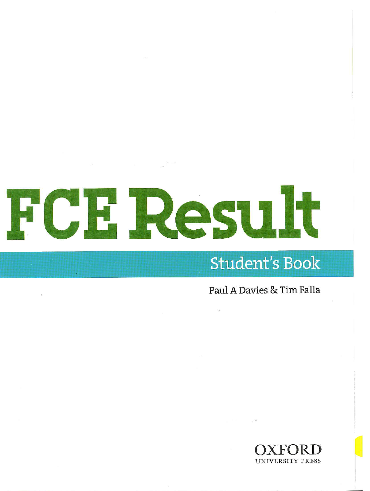 fce result students book pdf free