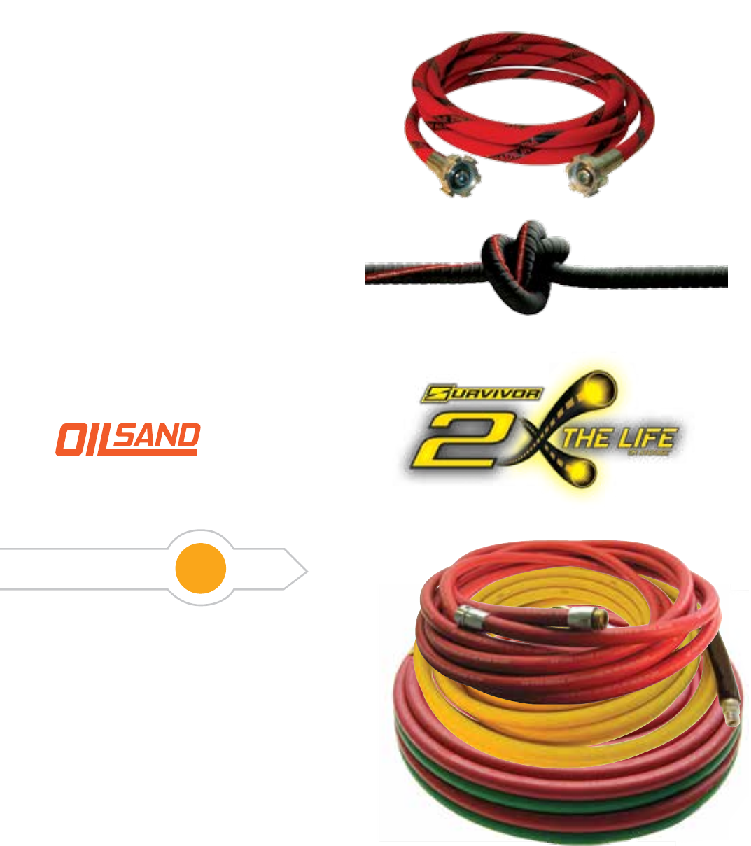"""Red Goodyear Air Hose 3//8/"""" x 30/' w// Ice Flex Anti Kink Ends 250 PSI"""
