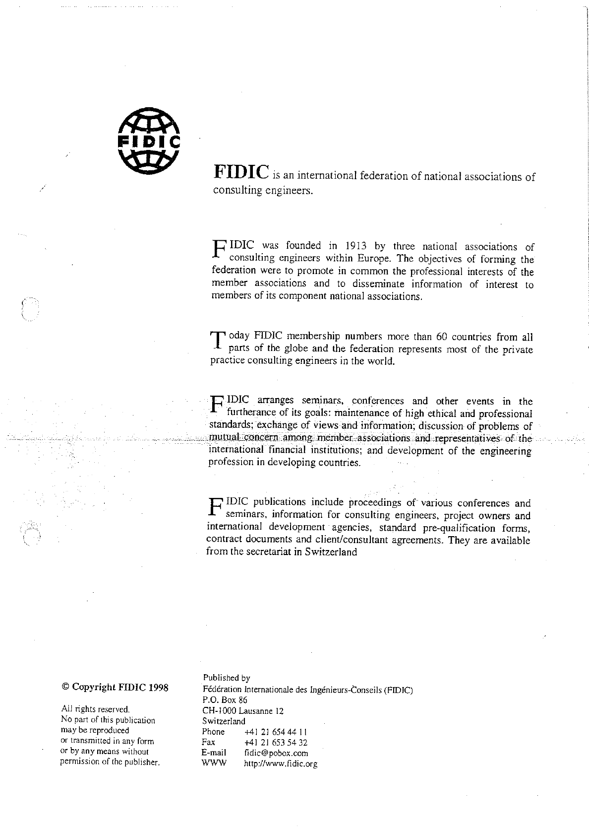 Fidic Client Consultant Model Services Agreement Silver Book