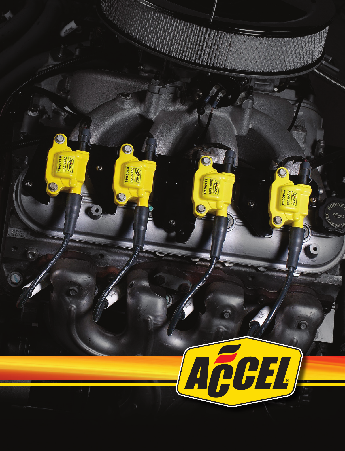 "Accel 0414S-4 C-Cut Performance Spark Plugs .750/"" Reach ACCEL"